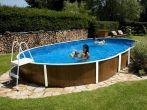 Oval shaped pools