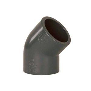 PVC līkums 63 mm - 45°