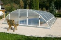 Swimming pool polycarbonate roof 4.28 x 8.40 x 1.51