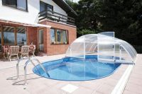 Swimming pool polycarbonate roof 5.14 x 10.50 x 1.78