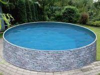 Virszemes baseins (D=3,6m, dziļums=1,2m) Lagoon dekor. akmeņu imitācijas apdare
