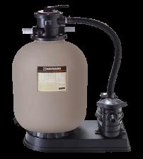 Smilšu filtrs D=350mm ar sūkni, 0,3 kW, 5 m3/h