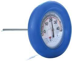 Peldošs apļveida termometrs