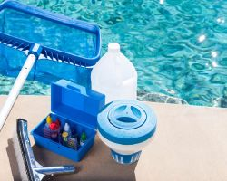 Pool chemistry, cleaning and maintenance products